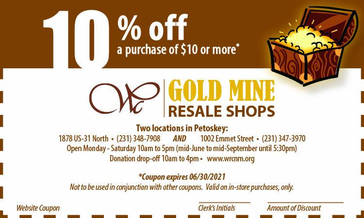 Gold Mine Web Coupon expires 06.30.212 1