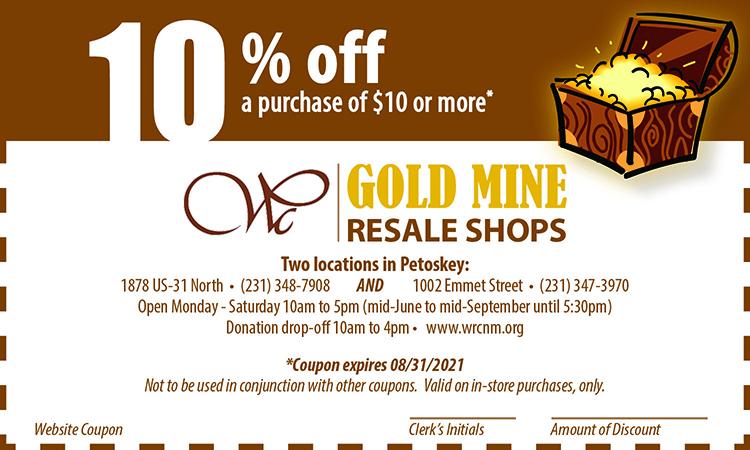 Gold Mine Web Coupon expires 08.31.21 750 x 450px